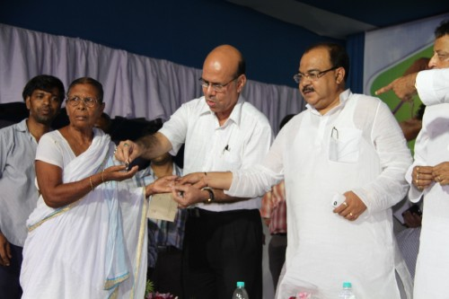 Distribution of Keys of flats among Beneficiaries of Nonadanga