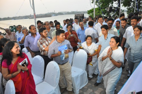 Inauguration of KMC riverfront beautification project (from Princep Ghat to Baje Kadamtala Ghat)